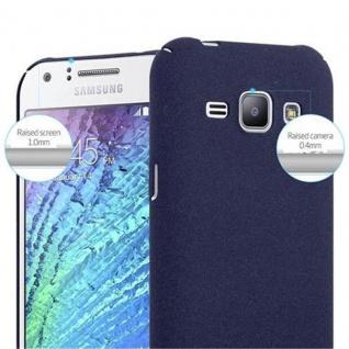 Cadorabo Hülle für Samsung Galaxy J1 2015 in FROSTY BLAU - Hardcase Handyhülle aus Plastik gegen Kratzer und Stöße - Schutzhülle Bumper Ultra Slim Back Case Hard Cover - Vorschau 5