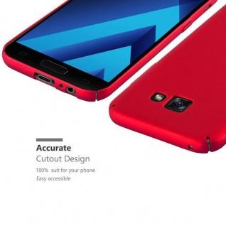 Cadorabo Hülle für Samsung Galaxy A3 2017 in METALL ROT ? Hardcase Handyhülle aus Plastik gegen Kratzer und Stöße ? Schutzhülle Bumper Ultra Slim Back Case Hard Cover - Vorschau 3