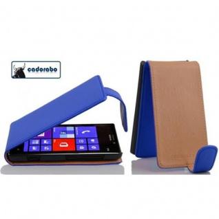 Cadorabo Hülle für Nokia Lumia 925 in BRILLIANT BLAU - Handyhülle im Flip Design aus glattem Kunstleder - Case Cover Schutzhülle Etui Tasche Book Klapp Style