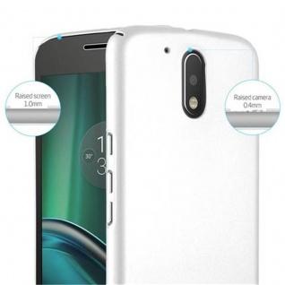 Cadorabo Hülle für Motorola MOTO G4 / MOTO G4 PLUS in METALL SILBER - Hardcase Handyhülle aus Plastik gegen Kratzer und Stöße - Schutzhülle Bumper Ultra Slim Back Case Hard Cover - Vorschau 4