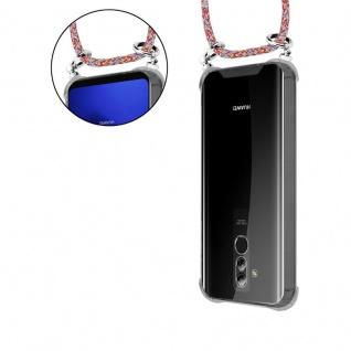 Cadorabo Handy Kette für Huawei MATE 20 LITE in COLORFUL PARROT - Silikon Necklace Umhänge Hülle mit Silber Ringen, Kordel Band Schnur und abnehmbarem Etui - Schutzhülle - Vorschau 5