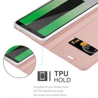 Cadorabo Hülle für Huawei MATE 10 LITE in CLASSY ROSÉ GOLD - Handyhülle mit Magnetverschluss, Standfunktion und Kartenfach - Case Cover Schutzhülle Etui Tasche Book Klapp Style - Vorschau 5