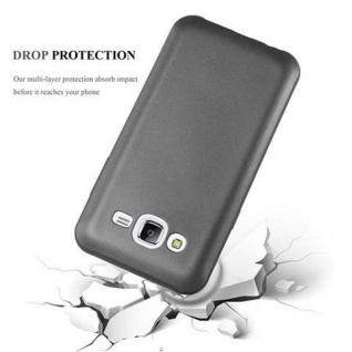 Cadorabo Hülle für Samsung Galaxy J5 2015 in METALLIC GRAU - Handyhülle aus flexiblem TPU Silikon - Silikonhülle Schutzhülle Ultra Slim Soft Back Cover Case Bumper - Vorschau 4