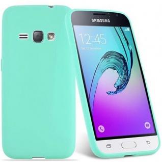 Cadorabo Hülle für Samsung Galaxy J1 2016 in CANDY BLAU - Handyhülle aus flexiblem TPU Silikon - Silikonhülle Schutzhülle Ultra Slim Soft Back Cover Case Bumper - Vorschau 2