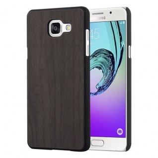 Cadorabo Hülle für Samsung Galaxy A5 2016 in WOODEN SCHWARZ ? Handyhülle aus flexiblem TPU Silikon ? Silikonhülle Schutzhülle Ultra Slim Soft Back Cover Case Bumper