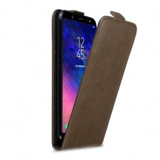 Cadorabo Hülle für Samsung Galaxy A6 PLUS 2018 in KAFFEE BRAUN - Handyhülle im Flip Design mit Magnetverschluss - Case Cover Schutzhülle Etui Tasche Book Klapp Style