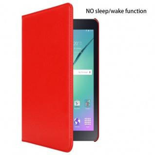 """"""" Cadorabo Tablet Hülle für Samsung Galaxy Tab S2 (8, 0"""" Zoll) SM-T715N / T719N in MOHN ROT ? Book Style Schutzhülle OHNE Auto Wake Up mit Standfunktion und Gummiband Verschluss"""" - Vorschau 2"""