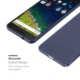 Cadorabo Hülle für Huawei NEXUS 6P in FROSTY BLAU - Hardcase Handyhülle aus Plastik gegen Kratzer und Stöße - Schutzhülle Bumper Ultra Slim Back Case Hard Cover - Vorschau 4