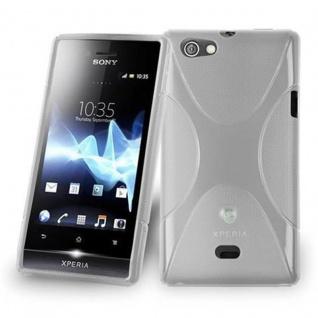 Cadorabo Hülle für Sony Xperia MIRO in HALB TRANSPARENT ? Handyhülle aus flexiblem TPU Silikon ? Silikonhülle Schutzhülle Ultra Slim Soft Back Cover Case Bumper
