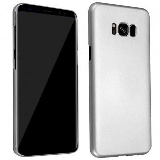 Cadorabo Hülle für Samsung Galaxy S8 in METALL SILBER Hardcase Handyhülle aus Plastik gegen Kratzer und Stöße Schutzhülle Bumper Ultra Slim Back Case Hard Cover