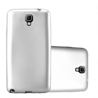 Cadorabo Hülle für Samsung Galaxy NOTE 3 NEO in METALLIC SILBER Handyhülle aus flexiblem TPU Silikon Silikonhülle Schutzhülle Ultra Slim Soft Back Cover Case Bumper