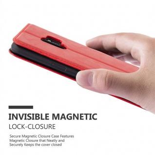 Cadorabo Hülle für Samsung Galaxy S9 in APFEL ROT Handyhülle mit Magnetverschluss, Standfunktion und Kartenfach Case Cover Schutzhülle Etui Tasche Book Klapp Style - Vorschau 4