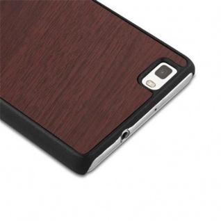 Cadorabo Hülle für Huawei P8 LITE 2015 in WOODY KAFFEE ? Hardcase Handyhülle aus Plastik gegen Kratzer und Stöße ? Schutzhülle Bumper Ultra Slim Back Case Hard Cover - Vorschau 3