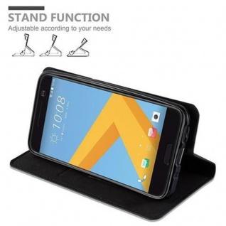 Cadorabo Hülle für HTC 10 (One M10) in NACHT SCHWARZ - Handyhülle mit Magnetverschluss, Standfunktion und Kartenfach - Case Cover Schutzhülle Etui Tasche Book Klapp Style - Vorschau 5