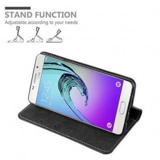 Cadorabo Hülle für Samsung Galaxy A3 2016 in SCHWARZ BRAUN ? Handyhülle mit Magnetverschluss, Standfunktion und Kartenfach ? Case Cover Schutzhülle Etui Tasche Book Klapp Style - Vorschau 5