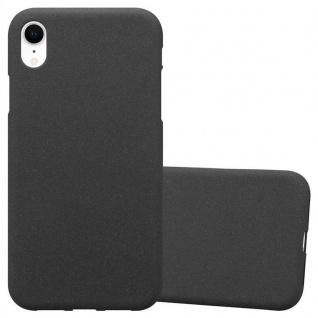 Cadorabo Hülle für Apple iPhone XR in FROST SCHWARZ - Handyhülle aus flexiblem TPU Silikon - Silikonhülle Schutzhülle Ultra Slim Soft Back Cover Case Bumper