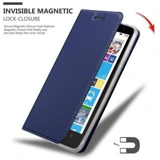 Cadorabo Hülle für Nokia Lumia 1320 in CLASSY DUNKEL BLAU - Handyhülle mit Magnetverschluss, Standfunktion und Kartenfach - Case Cover Schutzhülle Etui Tasche Book Klapp Style - Vorschau 3
