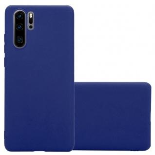 Cadorabo Hülle für Huawei P30 PRO in CANDY DUNKEL BLAU - Handyhülle aus flexiblem TPU Silikon - Silikonhülle Schutzhülle Ultra Slim Soft Back Cover Case Bumper