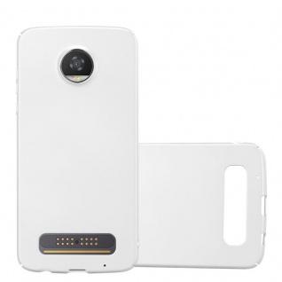 Cadorabo Hülle für Motorola MOTO Z2 PLAY in METALL SILBER - Hardcase Handyhülle aus Plastik gegen Kratzer und Stöße - Schutzhülle Bumper Ultra Slim Back Case Hard Cover