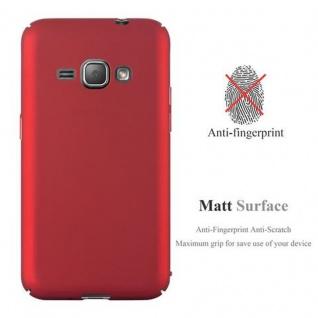 Cadorabo Hülle für Samsung Galaxy J1 2016 in METALL ROT ? Hardcase Handyhülle aus Plastik gegen Kratzer und Stöße ? Schutzhülle Bumper Ultra Slim Back Case Hard Cover - Vorschau 2
