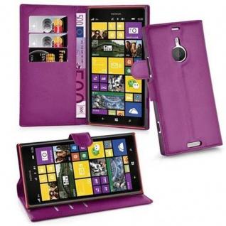 Cadorabo Hülle für Nokia Lumia 1520 in MANGAN VIOLETT - Handyhülle mit Magnetverschluss, Standfunktion und Kartenfach - Case Cover Schutzhülle Etui Tasche Book Klapp Style