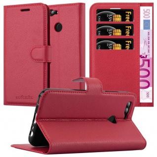 Cadorabo Hülle für Huawei NOVA 2 in KARMIN ROT - Handyhülle mit Magnetverschluss, Standfunktion und Kartenfach - Case Cover Schutzhülle Etui Tasche Book Klapp Style