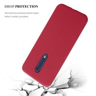 Cadorabo Hülle für Nokia 5 2017 in FROSTY ROT - Hardcase Handyhülle aus Plastik gegen Kratzer und Stöße - Schutzhülle Bumper Ultra Slim Back Case Hard Cover - Vorschau 5