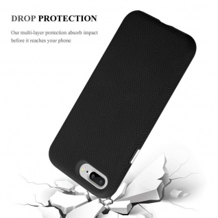 Cadorabo Hülle für Apple iPhone 6 PLUS / 7 PLUS / 8 PLUS in DAHLIEN SCHWARZ ? Outdoor Handyhülle mit extra Grip Anti Rutsch Oberfläche im Triangle Design aus Silikon und Kunststoff - Schutzhülle Hybrid Hardcase Back Case - Vorschau 5