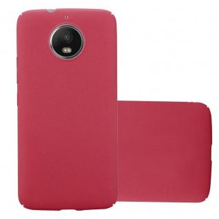 Cadorabo Hülle für Motorola MOTO G5S in FROSTY ROT - Hardcase Handyhülle aus Plastik gegen Kratzer und Stöße - Schutzhülle Bumper Ultra Slim Back Case Hard Cover