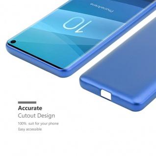 Cadorabo Hülle für Samsung Galaxy S10 in METALLIC BLAU - Handyhülle aus flexiblem TPU Silikon - Silikonhülle Schutzhülle Ultra Slim Soft Back Cover Case Bumper - Vorschau 5
