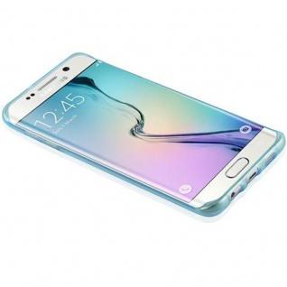 Cadorabo Hülle für Samsung Galaxy S6 EDGE PLUS in TRANSPARENT BLAU - Handyhülle aus flexiblem TPU Silikon - Silikonhülle Schutzhülle Ultra Slim Soft Back Cover Case Bumper - Vorschau 4
