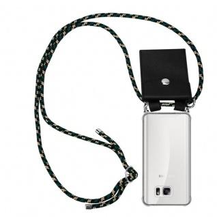 Cadorabo Handy Kette für Samsung Galaxy NOTE 5 in CAMOUFLAGE - Silikon Necklace Umhänge Hülle mit Silber Ringen, Kordel Band Schnur und abnehmbarem Etui - Schutzhülle