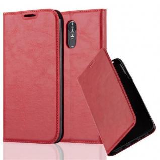 Cadorabo Hülle für LG STYLUS 3 in APFEL ROT - Handyhülle mit Magnetverschluss, Standfunktion und Kartenfach - Case Cover Schutzhülle Etui Tasche Book Klapp Style