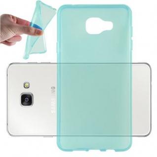 Cadorabo Hülle für Samsung Galaxy A7 2016 in TRANSPARENT BLAU - Handyhülle aus flexiblem TPU Silikon - Silikonhülle Schutzhülle Ultra Slim Soft Back Cover Case Bumper