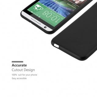 Cadorabo Hülle für HTC DESIRE 820 in METALLIC SCHWARZ - Handyhülle aus flexiblem TPU Silikon - Silikonhülle Schutzhülle Ultra Slim Soft Back Cover Case Bumper - Vorschau 2