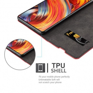 Cadorabo Hülle für Xiaomi Mi MIX 2 in APFEL ROT - Handyhülle mit Magnetverschluss, Standfunktion und Kartenfach - Case Cover Schutzhülle Etui Tasche Book Klapp Style - Vorschau 2