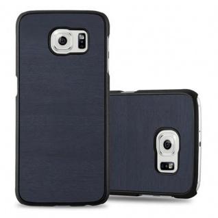 Cadorabo Hülle für Samsung Galaxy S6 in WOODY BLAU ? Hardcase Handyhülle aus Plastik gegen Kratzer und Stöße ? Schutzhülle Bumper Ultra Slim Back Case Hard Cover