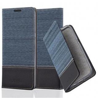 Cadorabo Hülle für LG XPower in DUNKEL BLAU SCHWARZ - Handyhülle mit Magnetverschluss, Standfunktion und Kartenfach - Case Cover Schutzhülle Etui Tasche Book Klapp Style