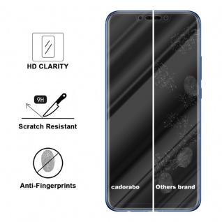 Cadorabo Panzer Folie für Huawei P SMART PLUS Schutzfolie in KRISTALL KLAR Gehärtetes (Tempered) Display-Schutzglas in 9H Härte mit 3D Touch Kompatibilität - Vorschau 3