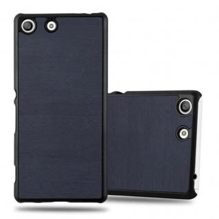 Cadorabo Hülle für Sony Xperia M5 in WOODY BLAU - Hardcase Handyhülle aus Plastik gegen Kratzer und Stöße - Schutzhülle Bumper Ultra Slim Back Case Hard Cover