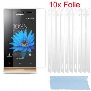 Cadorabo Displayschutzfolien für Sony Xperia MIRO - Schutzfolien in HIGH CLEAR ? 10 Stück hochtransparenter Schutzfolien gegen Staub, Schmutz und Kratzer