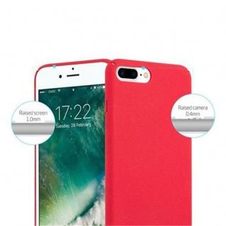 Cadorabo Hülle für Apple iPhone 8 PLUS / iPhone 7 PLUS / iPhone 7S PLUS in FROSTY ROT - Hardcase Handyhülle aus Plastik gegen Kratzer und Stöße - Schutzhülle Bumper Ultra Slim Back Case Hard Cover - Vorschau 3