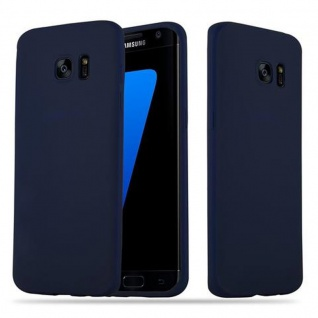 Cadorabo Hülle für Samsung Galaxy S7 EDGE in CANDY DUNKEL BLAU Handyhülle aus flexiblem TPU Silikon Silikonhülle Schutzhülle Ultra Slim Soft Back Cover Case Bumper