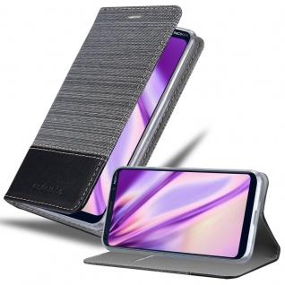 Cadorabo Hülle für Nokia 9 Pure View in GRAU SCHWARZ Handyhülle mit Magnetverschluss, Standfunktion und Kartenfach Case Cover Schutzhülle Etui Tasche Book Klapp Style
