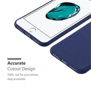 Cadorabo Hülle für Apple iPhone 8 PLUS / iPhone 7 PLUS / iPhone 7S PLUS in FROST DUNKEL BLAU - Handyhülle aus flexiblem TPU Silikon - Silikonhülle Schutzhülle Ultra Slim Soft Back Cover Case Bumper - Vorschau 3
