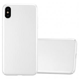 Cadorabo Hülle für Apple iPhone XS MAX in METALL SILBER Hardcase Handyhülle aus Plastik gegen Kratzer und Stöße Schutzhülle Bumper Ultra Slim Back Case Hard Cover