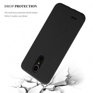 Cadorabo Hülle für LG K10 2017 in FROSTY SCHWARZ - Hardcase Handyhülle aus Plastik gegen Kratzer und Stöße - Schutzhülle Bumper Ultra Slim Back Case Hard Cover - Vorschau 4
