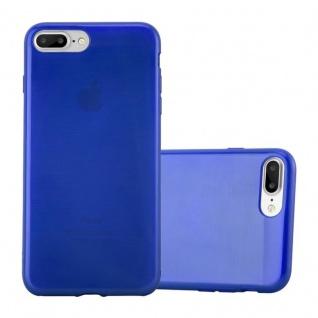 Cadorabo Hülle für Apple iPhone 8 PLUS / iPhone 7 PLUS / iPhone 7S PLUS in BLAU Handyhülle aus flexiblem TPU Silikon Silikonhülle Schutzhülle Ultra Slim Soft Back Cover Case Bumper