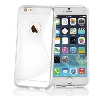 Cadorabo Hülle für Apple iPhone 6 / iPhone 6S in HALB TRANSPARENT ? Handyhülle aus flexiblem TPU Silikon ? Silikonhülle Schutzhülle Ultra Slim Soft Back Cover Case Bumper