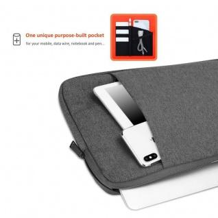 Cadorabo Laptop / Tablet Tasche 14'' Zoll in DUNKEL GRAU ? Notebook Computer Tasche aus Stoff mit Samt-Innenfutter und Fach mit Anti-Kratz Reißverschluss ? Schutzhülle Sleeve Case - Vorschau 4